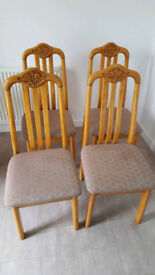 Wooden Dining Chairs x 4