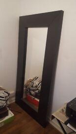 Ikea Mirror MONGSTAD Black-brown