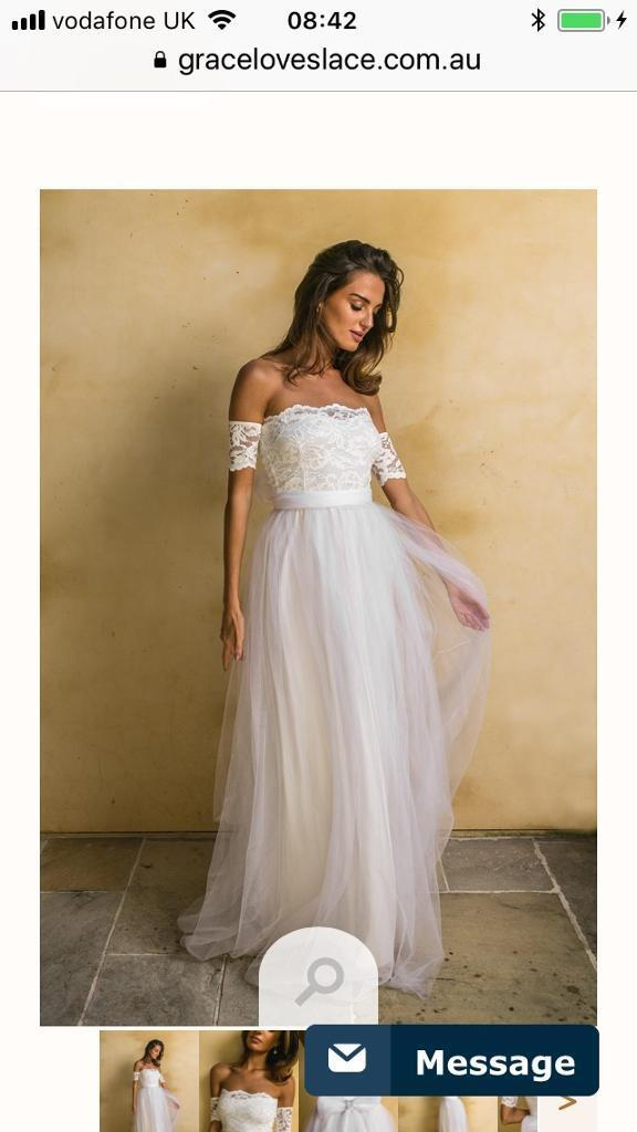 Grace Loves Lace Sally Wedding Dress Gown Size S In Bedford