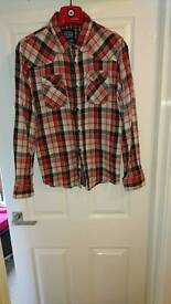Slim fit XL flannel check shirt
