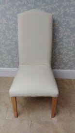 4 MULTIYORK Dining Chairs with 2 sets of fabric covers