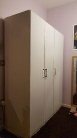 Large 3-Door White Wardrobe
