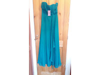 Coast Symphony maxi dress, size 10, emerald green, BNWT but missing straps