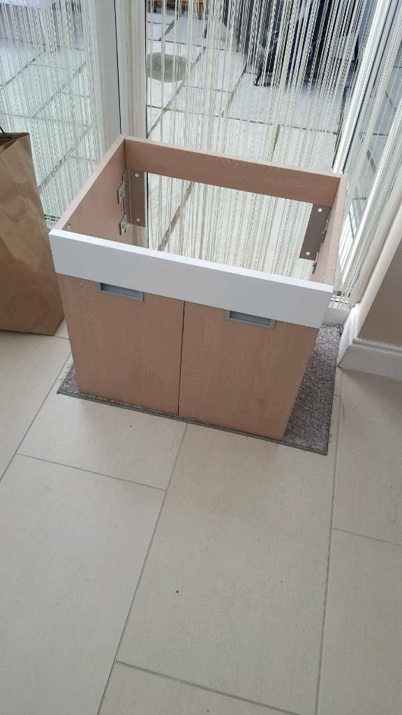 Vanity Unit Cabinet Basin Sink Bathroom Wall Hung Cloakroom - New