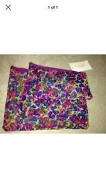 Issac mizrahi Set Of 3 Purple Floral Bags BNWT