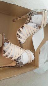 Size 3 caged high heels - bnib
