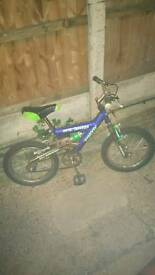Kids bike full suspension man jammer two new tyres excellent condition good working order