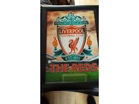 LIVERPOOL FC CURTAINS & PICTURE
