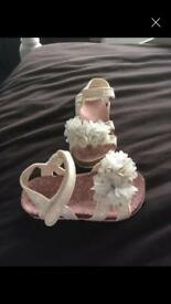 White glitter size 9 sandals brand new
