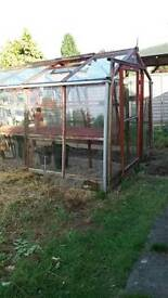 Wooden large greenhouse