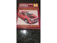 Vauxhall Corsa Haynes Manual 2000 to 2003