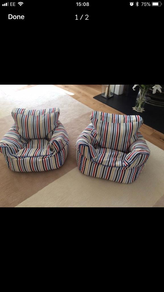2 GLTC Bean Bag Chairs For Sale