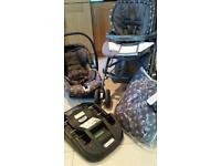 Mamas and papas pilko pram/pushchair travel system