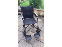 Drive Medical folding wheelchair.