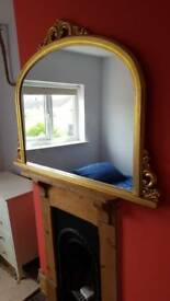 Mirror (gold painted)