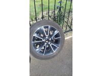 Skoda yeti Matterhorn alloy wheel 225/50/17