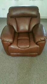 RECLINER SINGLE REAL LEATHER