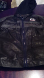 Age 9-10 - 134-140cm leather look jacket good condition