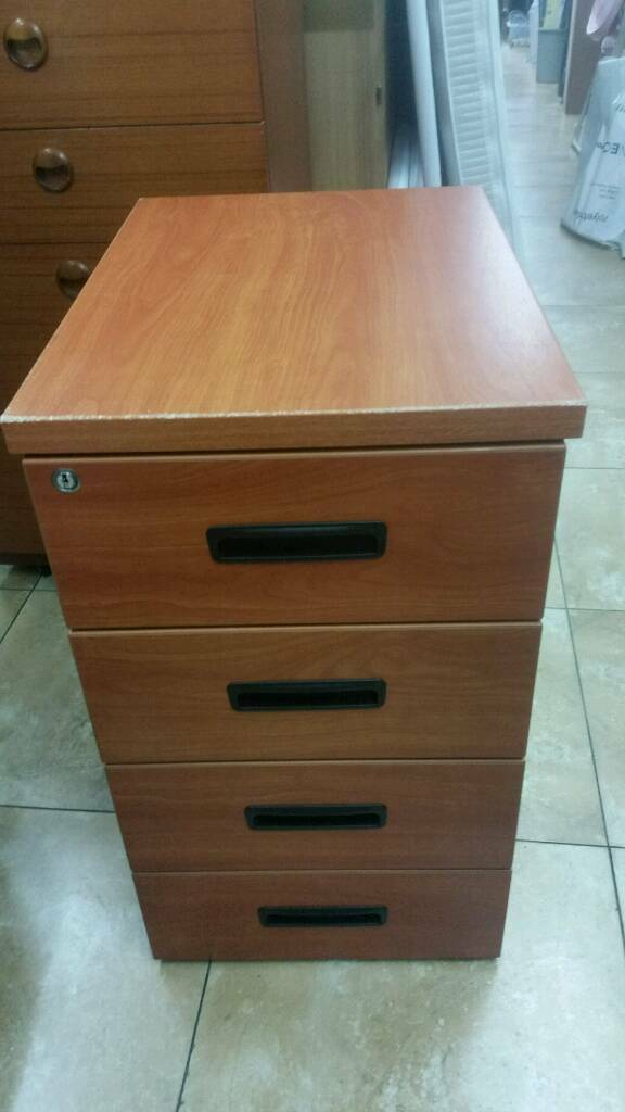 Filing cabinet wooden H73 W43cm D60cm four drawers with two keys