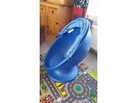 Ikea blue egg chair