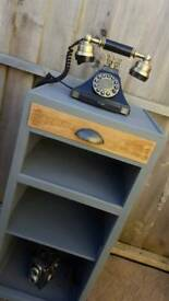 Cabinet bedside table storage telephone stand upcycled
