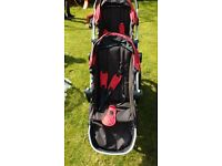 *** BABY JOGGER CITY SELECT - DOUBLE PUSHCHAIR TRAVEL SYSTEM BUGGY PRAM - SUPERB CONDITION ***