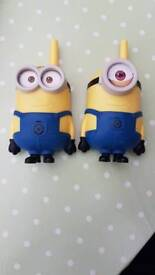 Despicable me walkie talkies with batteries
