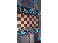 roman empire vs germanic huns chess set