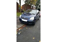 Toyota Yaris 3 door 2004 reg, long MOT, cheap insure/TAX/ideal first car. NO OFFERS