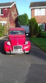 Citroen 2CV Red with Galvanised Chassis Full MOT Low Mileage