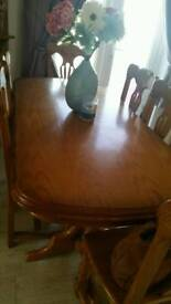 Very large 8 seater table and chairs