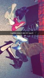 Selection of ladies heels & boots