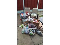 Job lot of closed eBay shop items, over 500 items including curves boxes