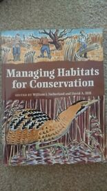 Managing Habitats for Conservation by Sutherland & Hill