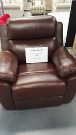 Brand New Chestnut Real Leather Recliner Chair. Real Deal. Need Space On Floor Hence Price. RRP £799