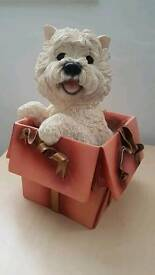 The leonardo collection surprise 2001 white scottie dog figure