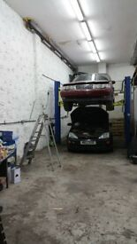 car mechanic garage working space For rent- To Share / workshop garage body shop