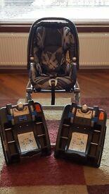 Mamas & Papas Primo Viaggio car seat & 2 bases