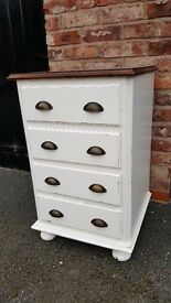 Shabby Chic Satin White Pine Draws