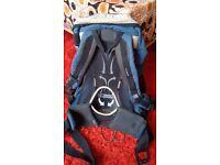 Bike backpack - ventilated back