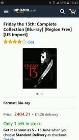 Friday 13th full retail COPY collection blu-ray