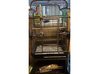 Large bird cage for parrots (cast iron)