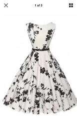 Sleeveless Flower Print A Line Dress