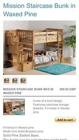 Brand new bunk bed in boxes