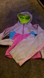 girls Adidas tracksuit 11/12