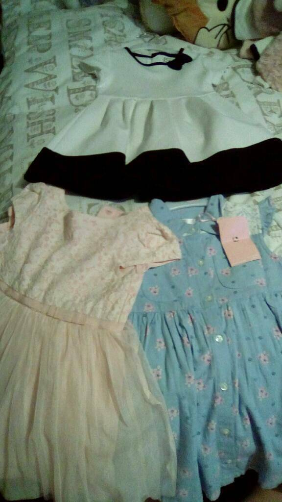 3 girls dresses from next, m&co and primark x