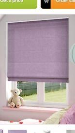Pastel Purple Lavender Roman blinds 61cm x 130cm x2