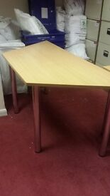 Hexagonal shaped office desk as new