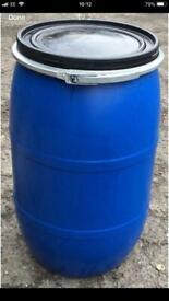120 Litre Blue Barrel Water Butt water Storage
