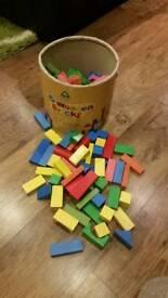 ELC wooden blocks bricks around 100